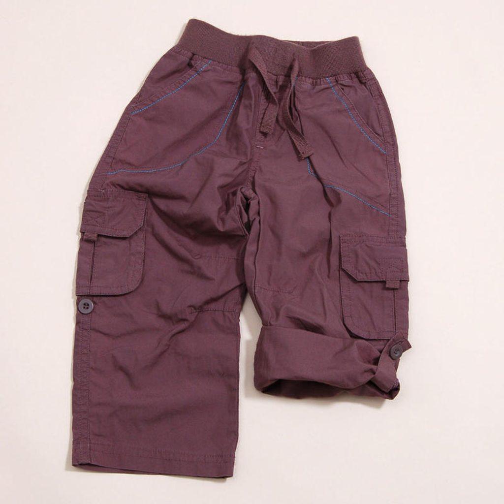 Kalhoty chlapecké roll up, Pidilidi, PD819, hnědá - 86/92