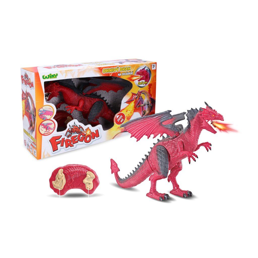 Firegon (ohnivý drak) s efekty RC 45 cm, Wiky RC, W001601