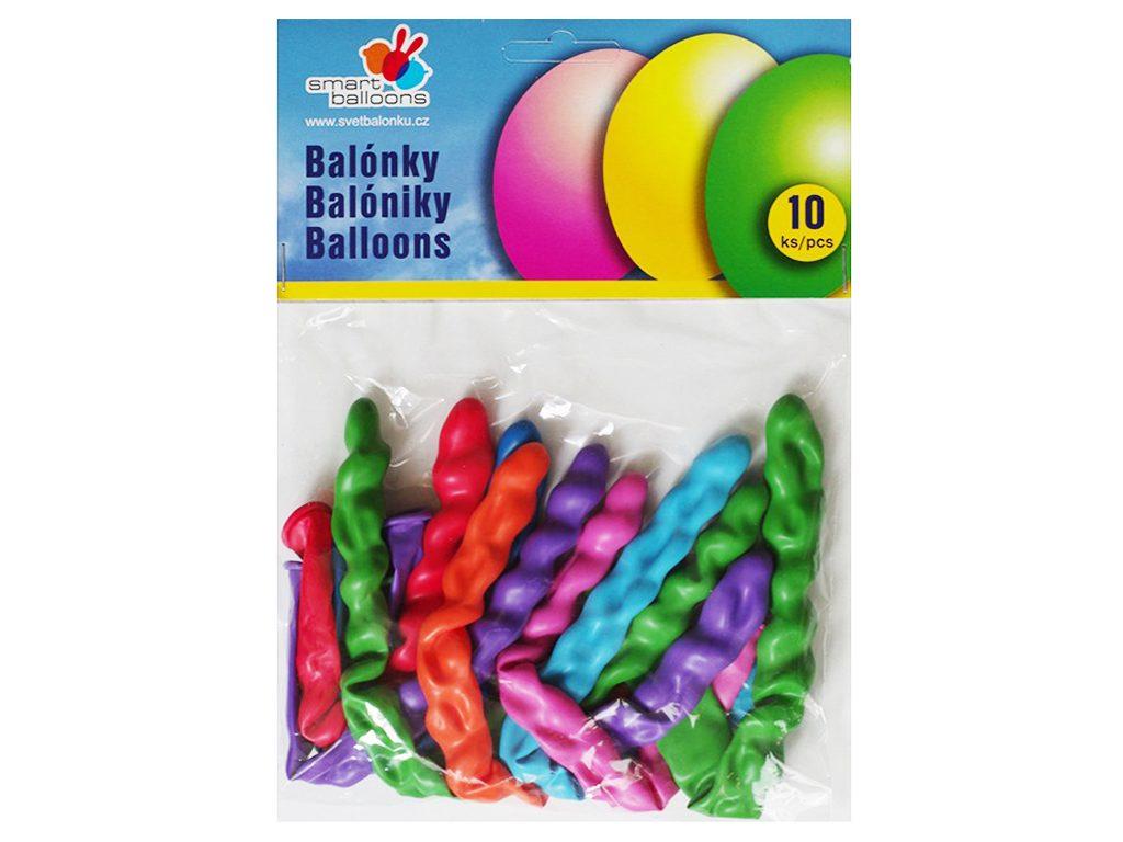 Balónek nafukovací - sada 10ks PODLOUHLÝ, Smart Balloons, W040567