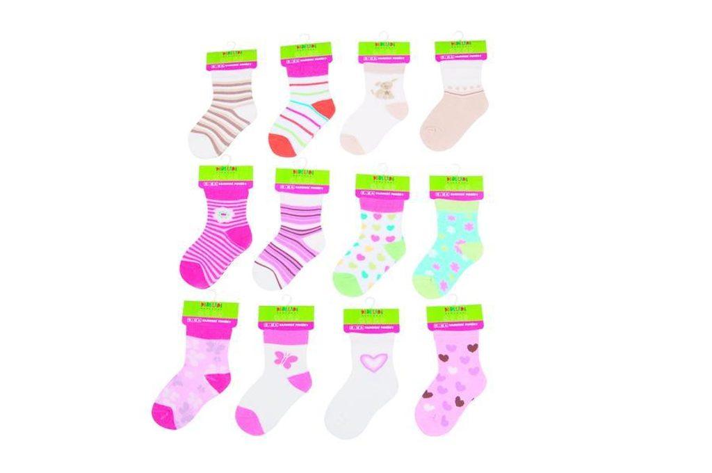 Kojenecké ponožky dívčí  (12 až 18m), Pidilidi, PD504, holka - 80/86