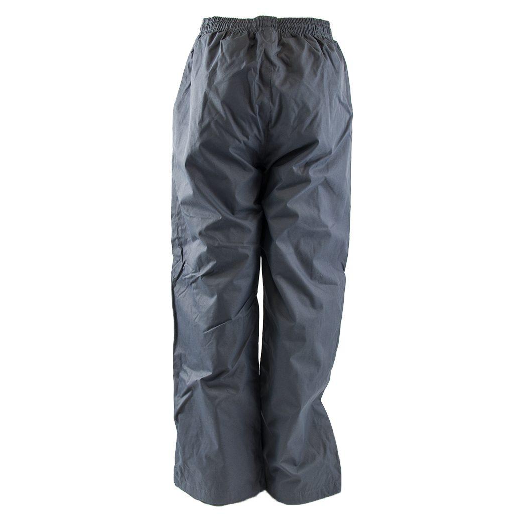 Kalhoty šusťákové bez šňůrky v pase, PD335, šedá - 128
