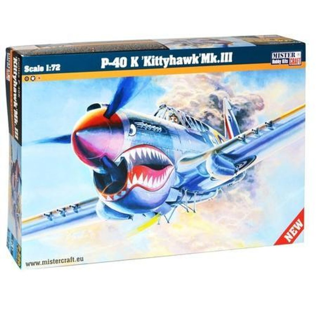 Model letadla P-40 K Kittyhawk Mk.I, Mister Craft, W105020