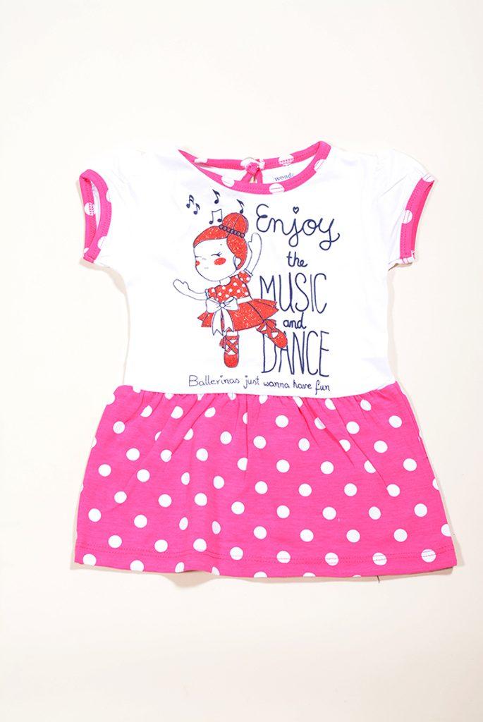 šaty letní dívčí, Wendee, OZ19202-0, růžová - 98