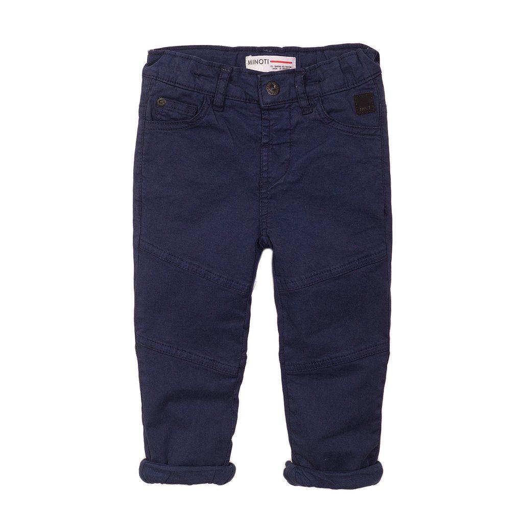 Kalhoty chlapecké podšité bavlnou, Minoti, 3BWLINPANT 6, modrá - 134/140