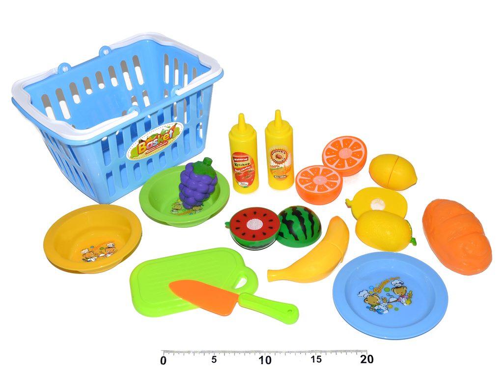 Potraviny v košíku 2 asst., Wiky, W114453