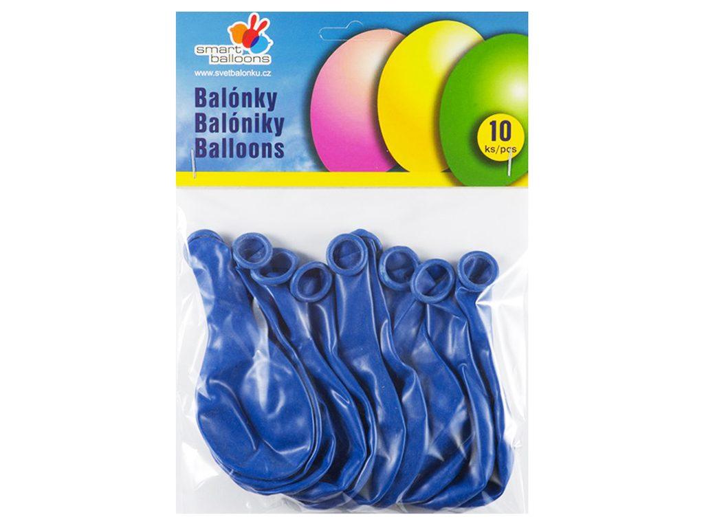 Balónek nafukovací - sada 10ks MODRÉ 26cm, Smart Balloons, W040579