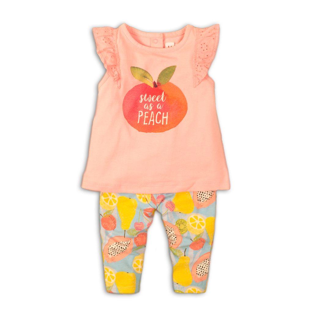 Kojenecký set dívčí - tričko a kalhoty, Minoti, Fruits 4, růžová - 74/80