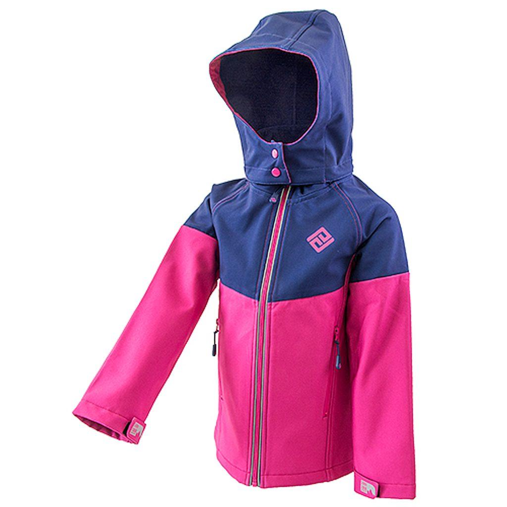 bunda softshellová dívčí s kapucí, Pidilidi, PD1073, Holka - 98