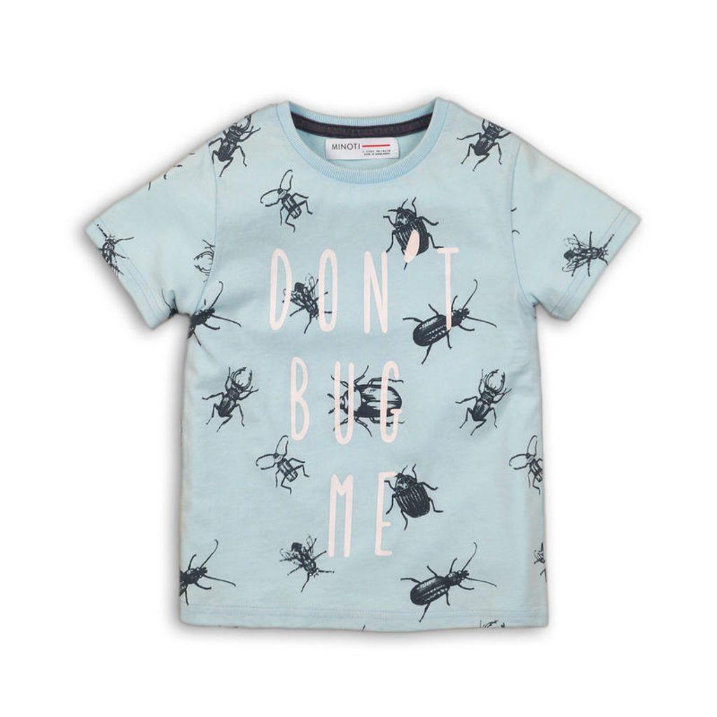 Tričko chlapecké s krátkým rukávem, Minoti, BUGS 3, modrá - 68/80