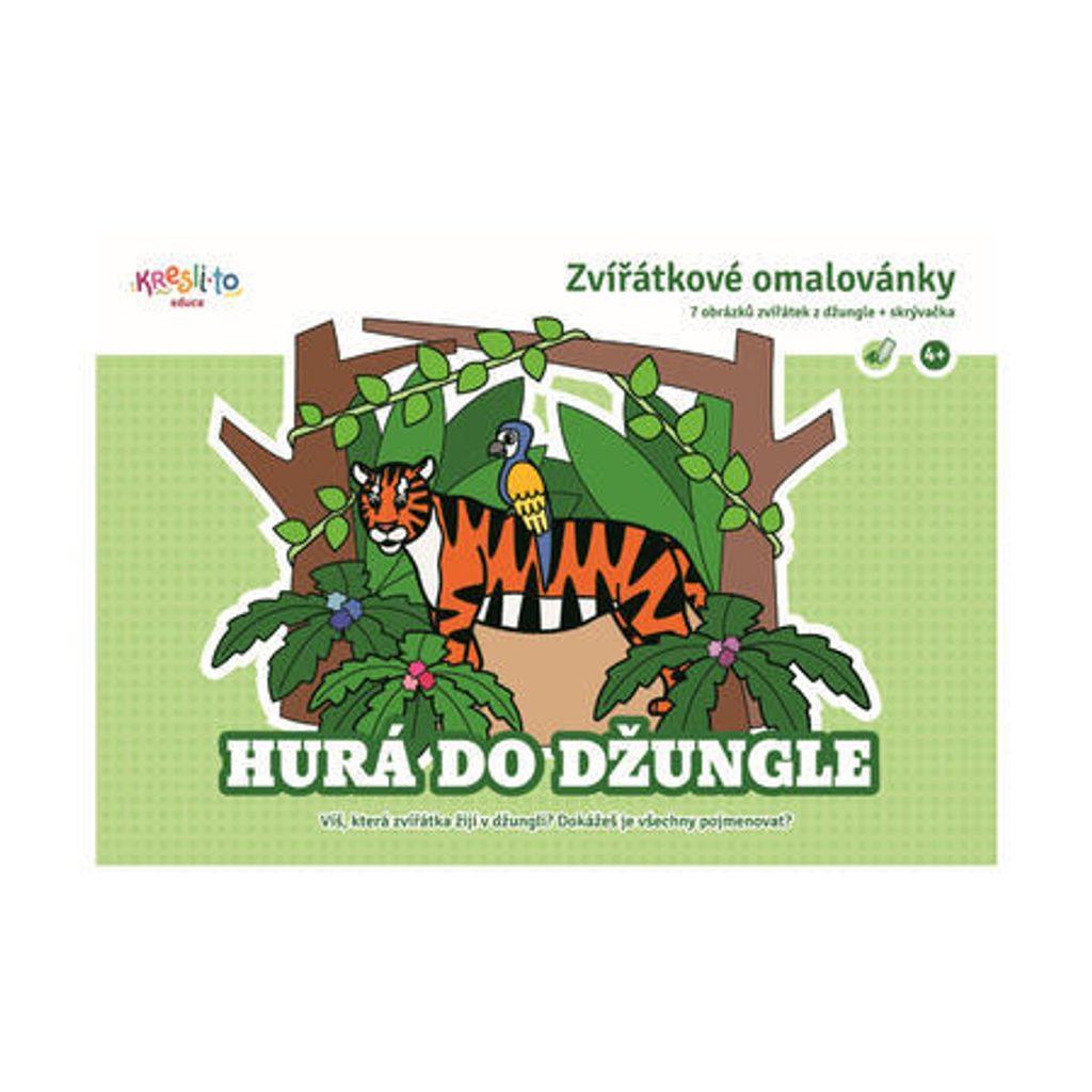 Zvířátkové omalovánky - Hurá do džungle, Kresli.to, W009521