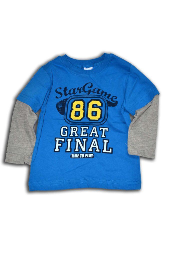 tričko chlapecké, dlouhý rukáv, Wendee, ozfb101610-0, světle modrá - 98