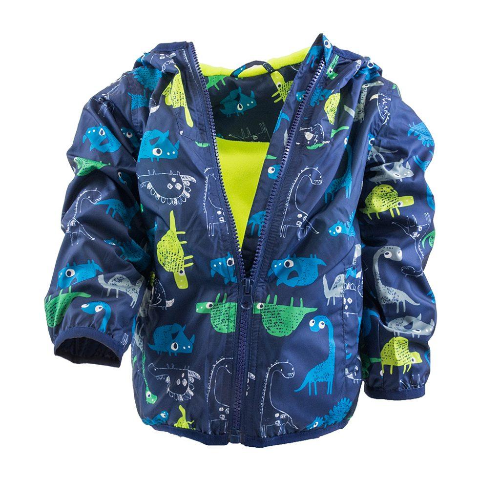 chlapecká jarní/podzimní bunda s potiskem a kapucí, Pidilidi, PD1092, modrá - 92/98