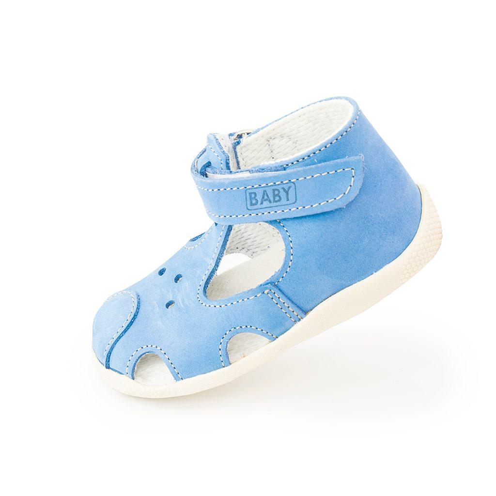 dětský kožený capáček na suchý zip, Veleta, 026, modrá - 20