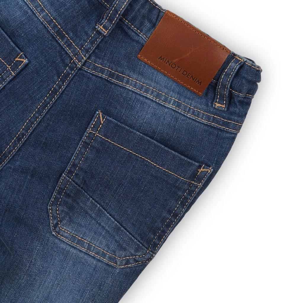 Kalhoty chlapecké džínové s elastenem, Minoti, REAL 4, modrá - 68/80