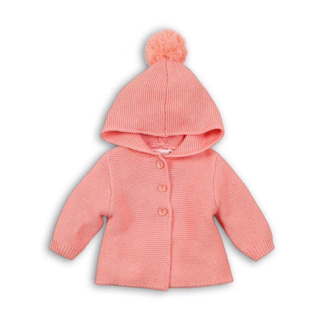Kabátek kojenecký úpletový, Minoti, BUNNY 7, růžová - 74/80