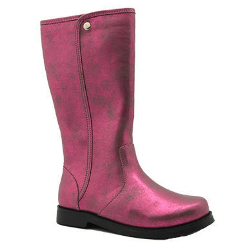 kozačky dívčí fashion, Bugga, B00139-03, růžová - 38