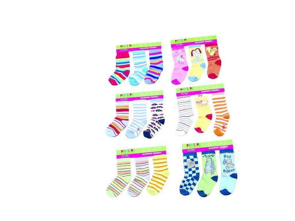 dětské kojenecké ponožky  (2/3r.), Pidilidi, PD111, mix - 92/98
