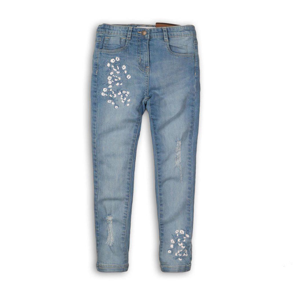 Kalhoty dívčí džínové s elastenem, Minoti, Hydrangea 7, modrá - 152/158