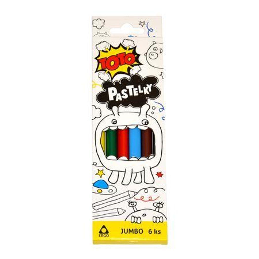 Pastelky Jumbo ERGO 6 ks, TOTO, W811043