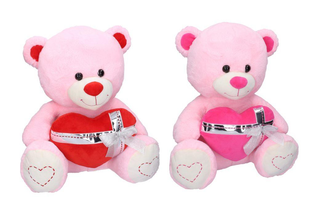Plyšový medvídek se srdcem 60 cm, W011114