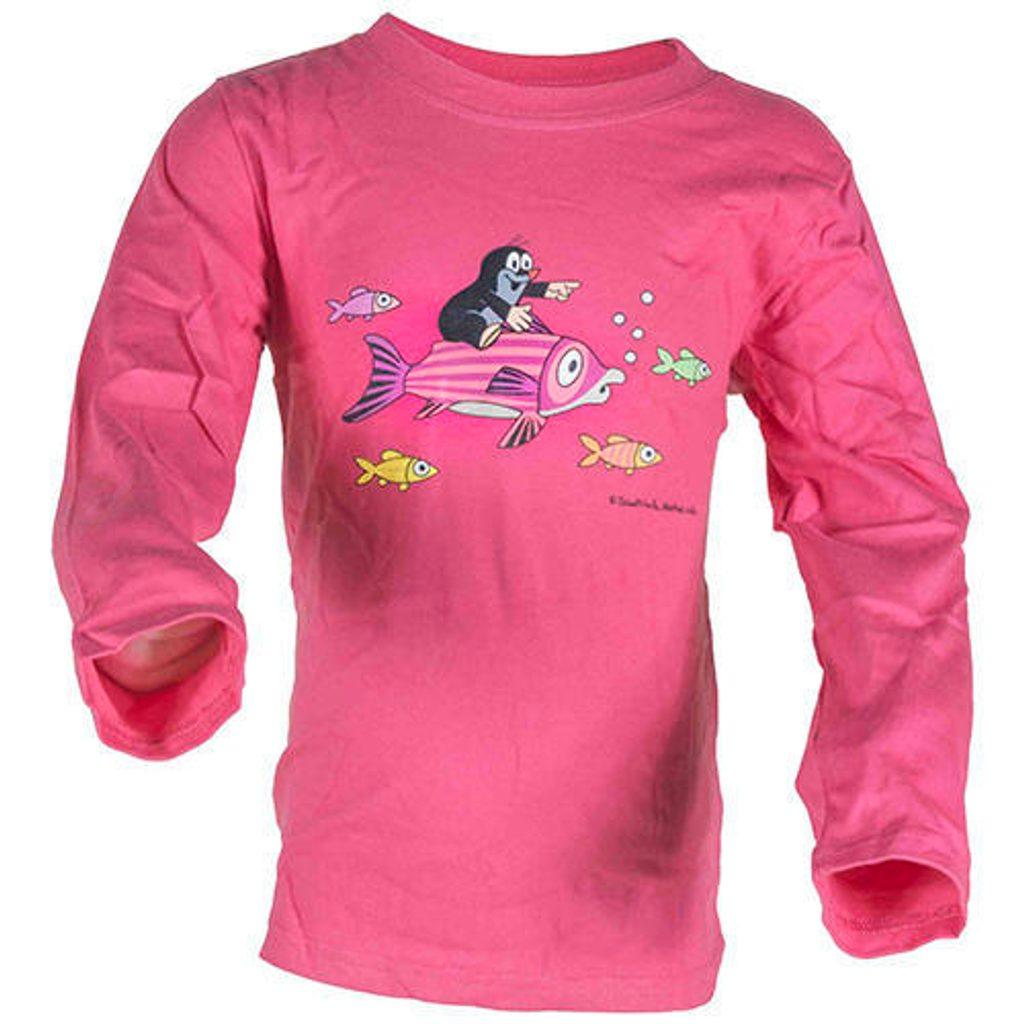 tričko dívčí KRTEK FISH, Pidilidi, 2016, růžová - 98