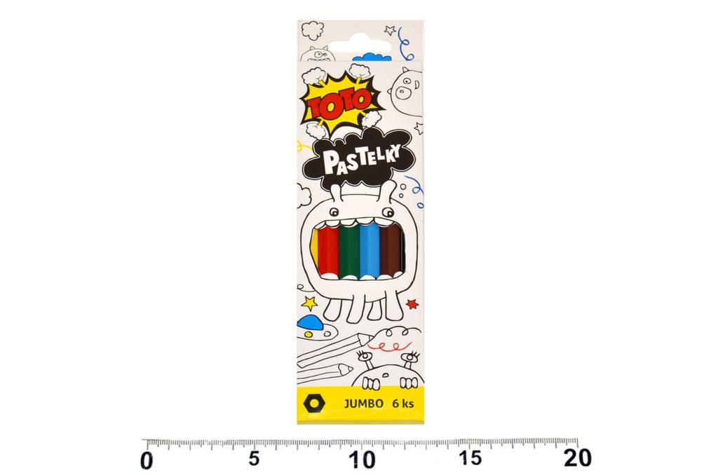 Pastelky Jumbo 6 ks, TOTO, W811046