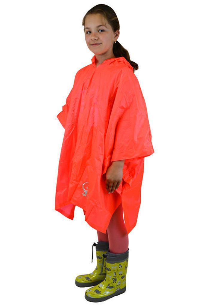 poncho PVC neonová, Pidilidi, PL0066, oranžová - dospělá