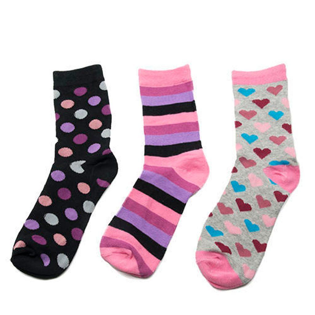 ponožky dívčí, 3pack, Pidilidi, PD0122, holka - 35-37