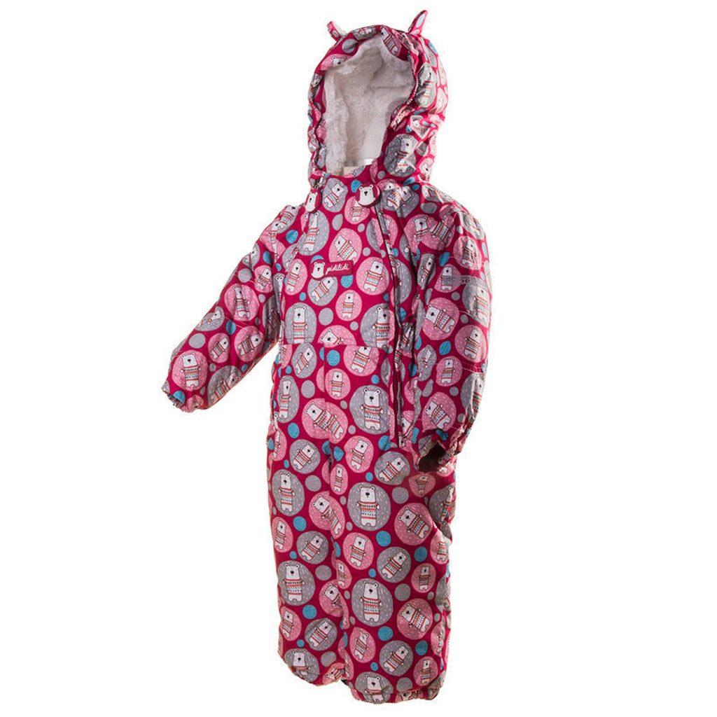 overal zimní s kožíškem, Pidilidi, PD1036-03, růžová - 98