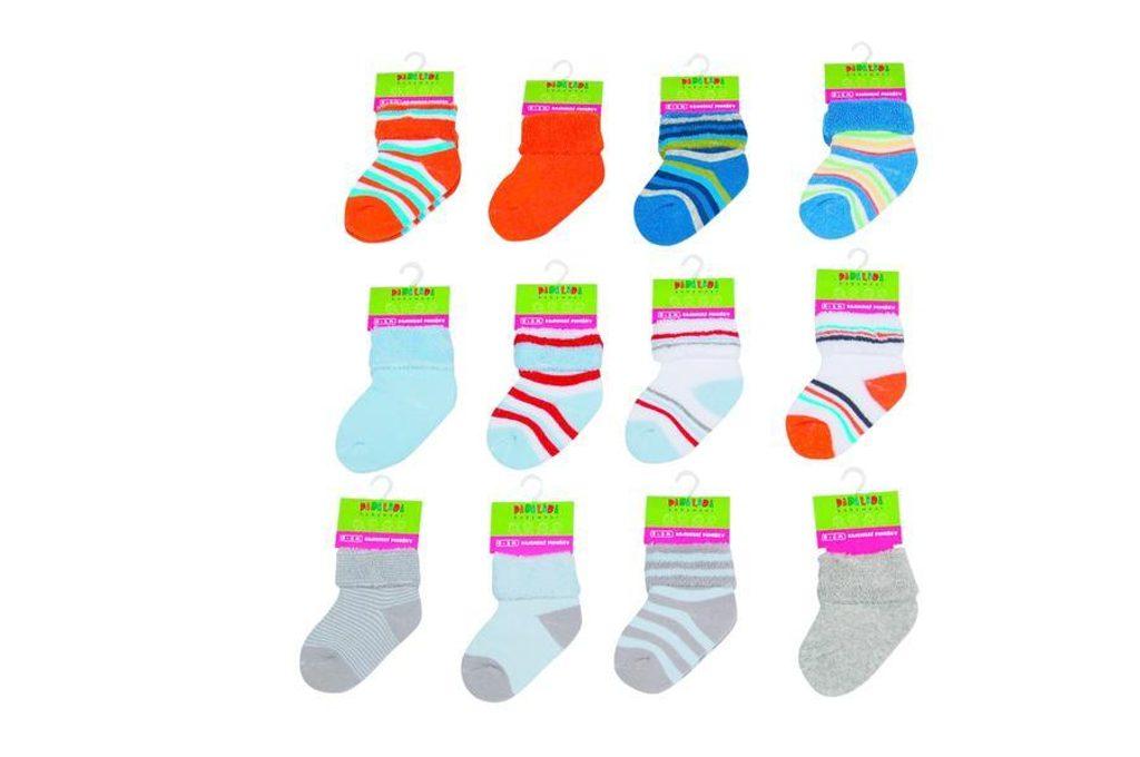 Kojenecké froté ponožky  (0 až 6m), Pidilidi, PD506, kluk - 0-6m