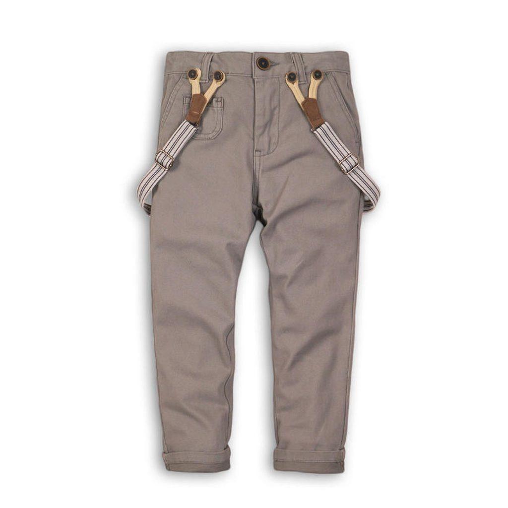 Kalhoty chlapecké se šlemi, Minoti, GENT 5, šedá - 140/146