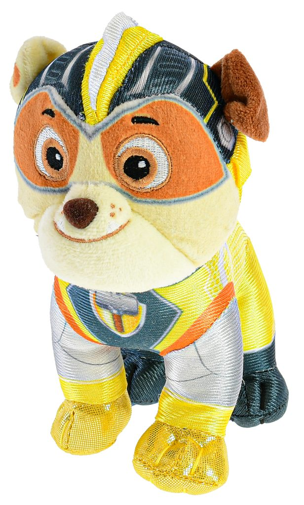 Paw Patrol Super Mighty Pups plyšový Rubble 25cm, Mikro Trading, W011564