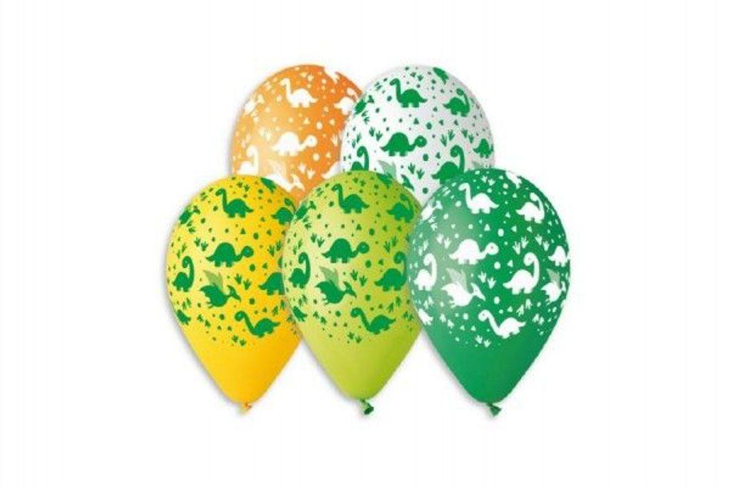 Balónek nafukovací - sada 5ks DINO, Smart Balloons, W000006
