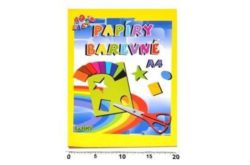 Papíry barevné W A4, 10 listů, 180g, WIKY, 886462