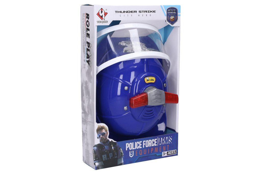 Policejní přilba s efekty, Wiky, W006503