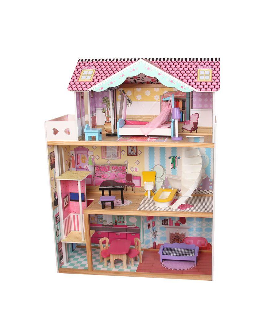 Dřevěný domek pro panenky 82x30x110 cm, W007592