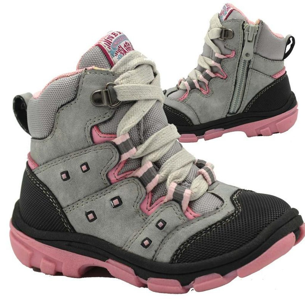 boty dětské zimní, Bugga, B00142-09, šedá - 26