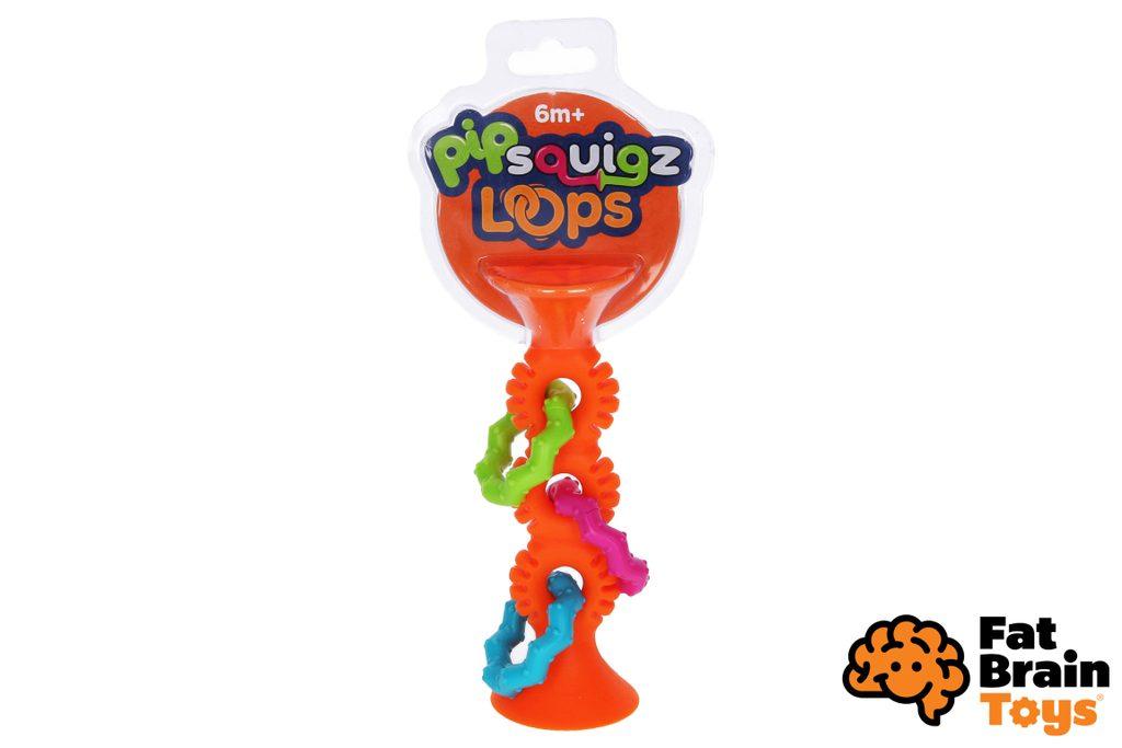 Fat Brain chrastítko pipSquiz Loops oranžové, Fat Brain, W010227