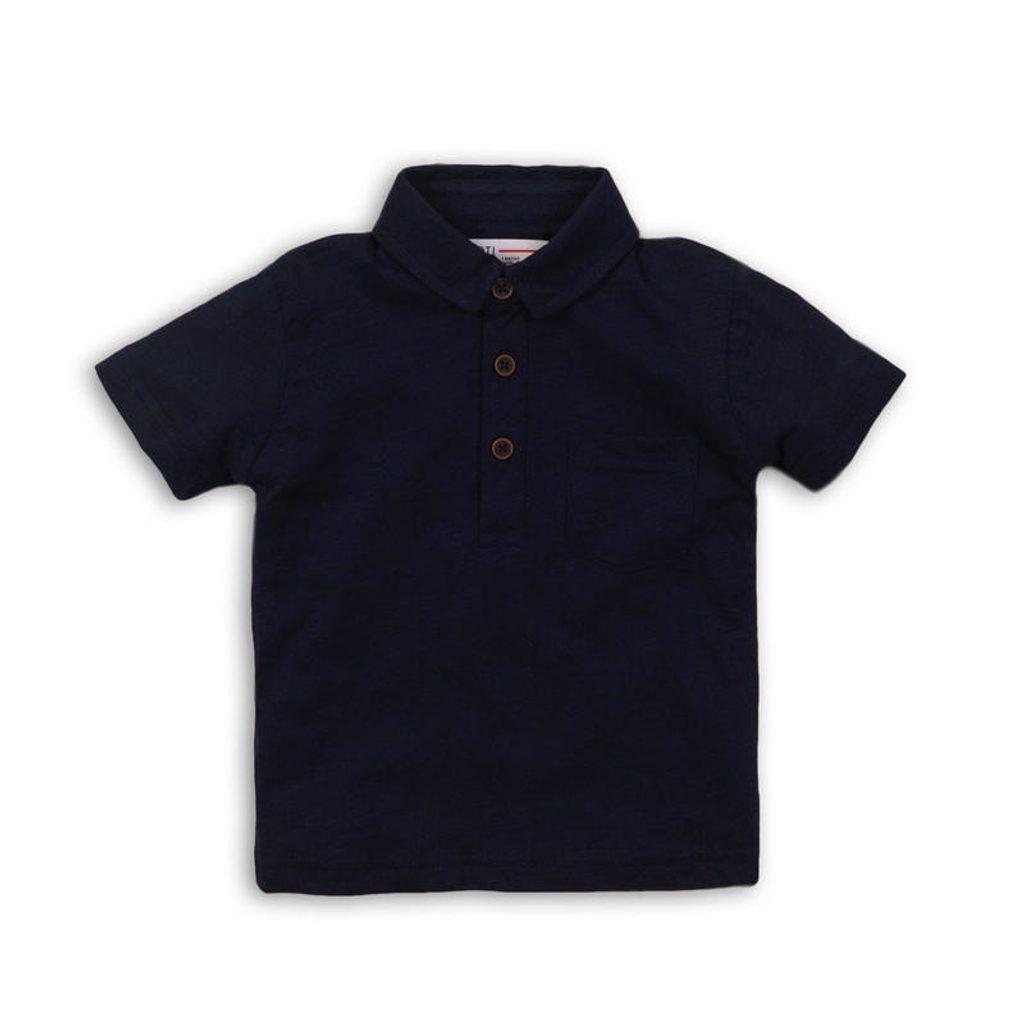Tričko chlapecké Polo s krátkým rukávem, Minoti, REAL 9, modrá - 80/86