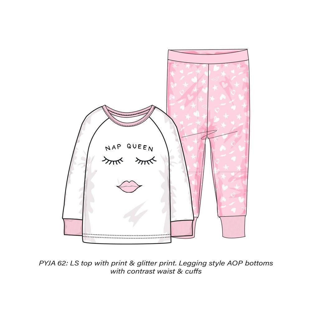 Pyžamo dívčí, Minoti, PYJA 62, růžová - 152/158