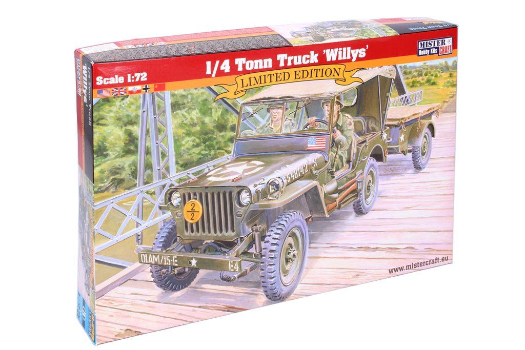 Model 1/4 Tonn Truck Willys 1:72, Mister Craft, W105056