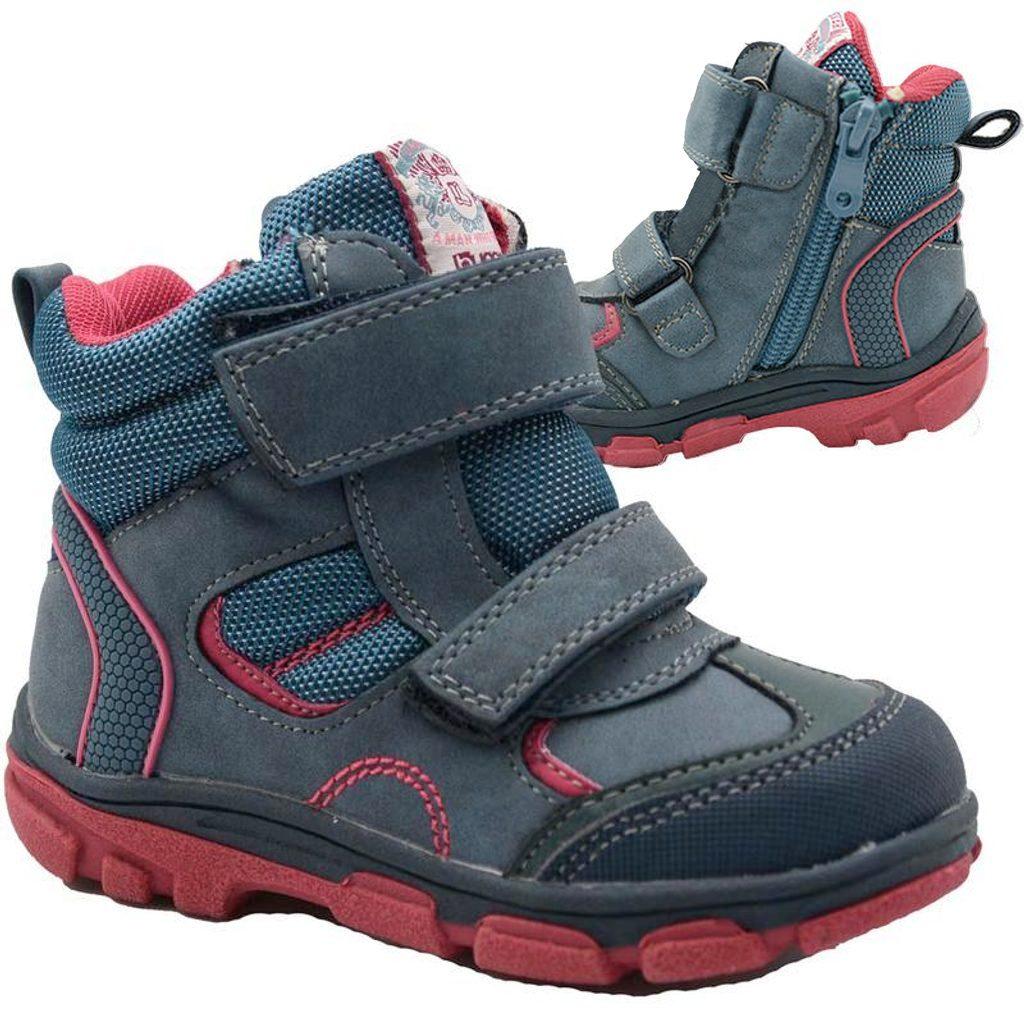 boty dětské zimní, Bugga, B00143-04, modrá - 26