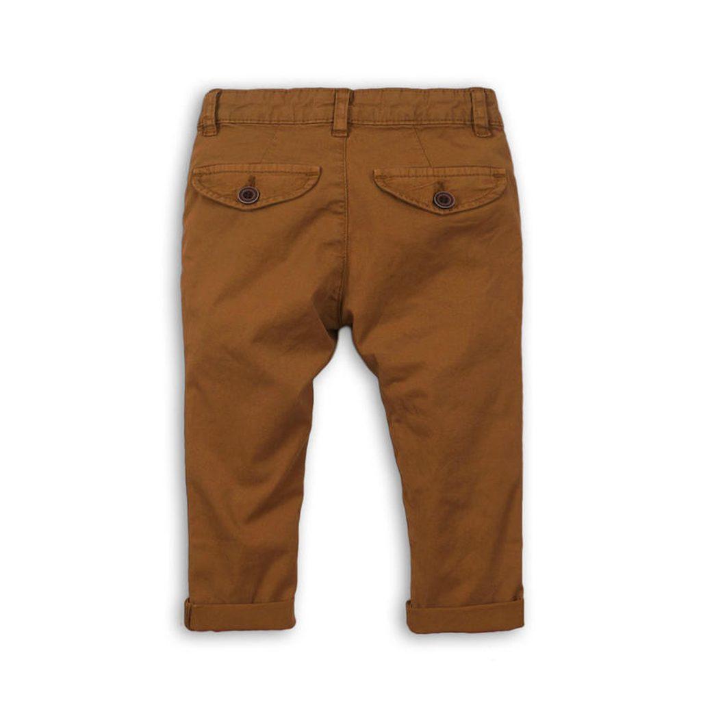 Kalhoty chlapecké Chino, Minoti, REAL 8, hnědá - 110/116