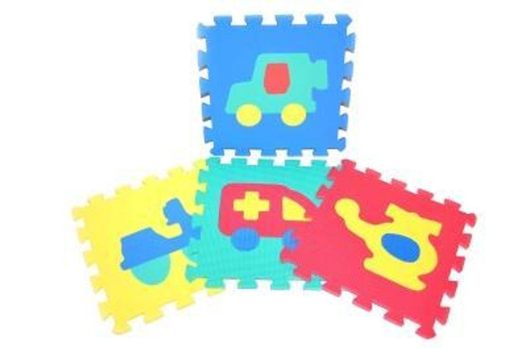 Měkké puzzle bloky dopravní prostředky 30 cm, WIKY, 118629