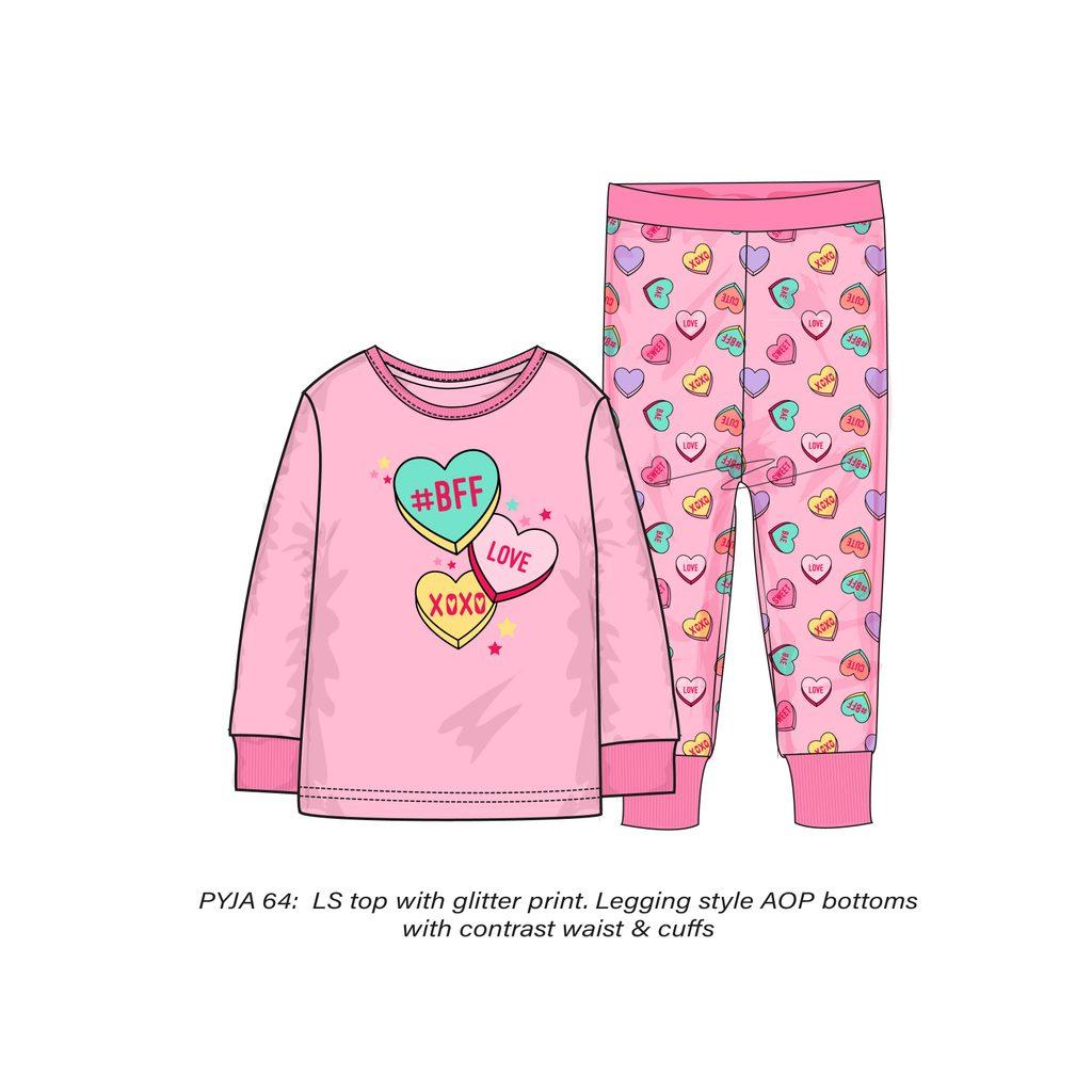 Pyžamo dívčí, Minoti, PYJA 64, růžová - 152/158