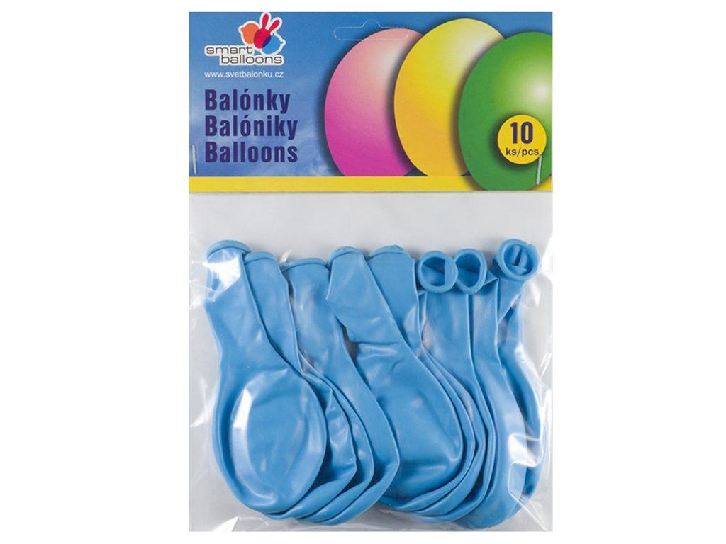 Balónek nafukovací - sada 10ks SV.MODRÉ 26cm, Smart Balloons, W040578