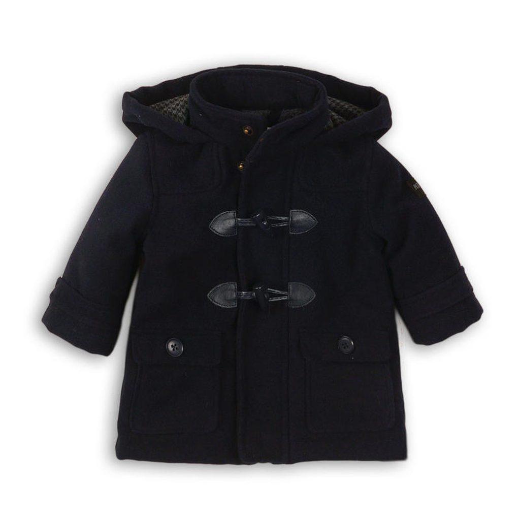 Kabát chlapecký vlněný podšitý chlupem, Minoti, SMART 1, tmavě modrá - 86/92