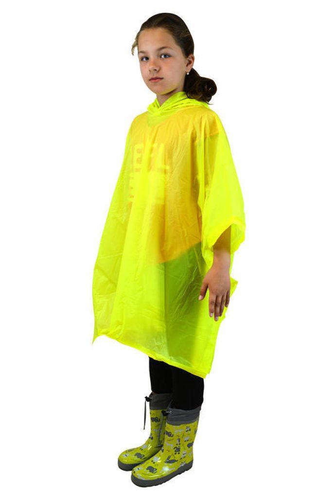 poncho PVC neonová, Pidilidi, PL0066, žlutá - dospělá