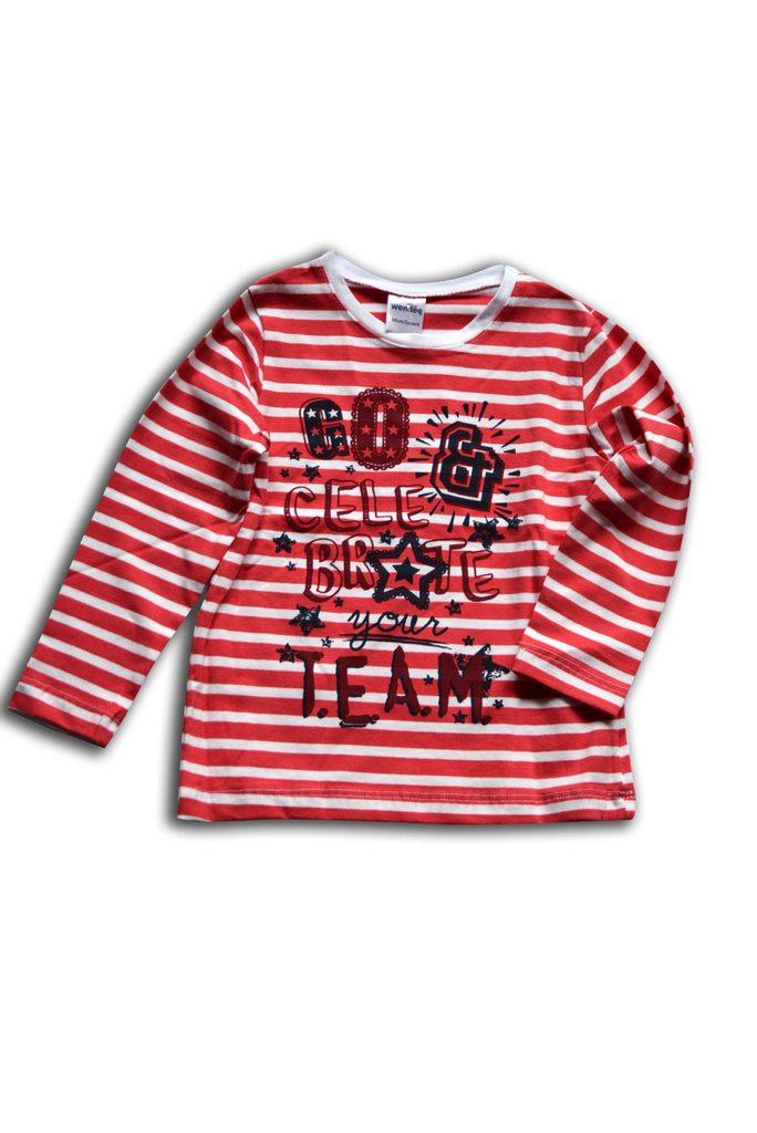 tričko dívčí, dlouhý rukáv, Wendee, ozfb102487-0, červená - 98