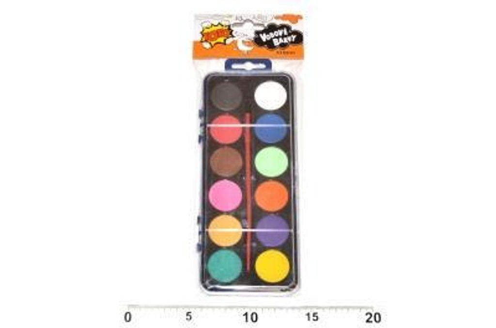 Vodové barvy 12 barev, TOTO, 831201